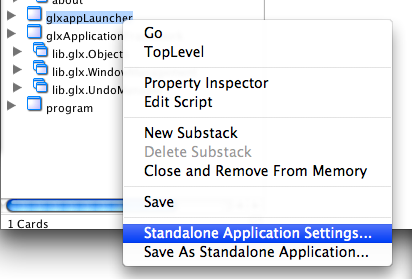 Configure Standalone Application Settings