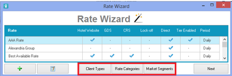 Rate Wizard Enhancements