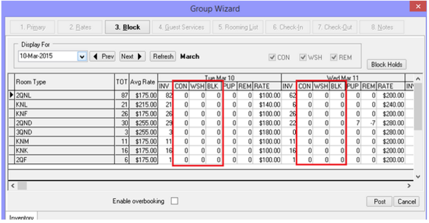 Group Wizard Primary Tab & Block Tab Modifications