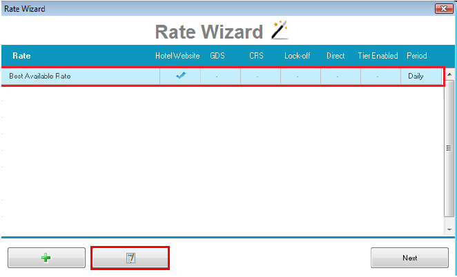 Step 6: This step is only required if you wish to add additional Rate Types to the Rate Plan (ie:the Rate Plan currently only has Hotel Website Rates but you wish for it to have GDS and Hotel Direct Rates as well)