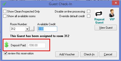 Deposit Paid
