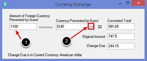 Using the Currency Converter