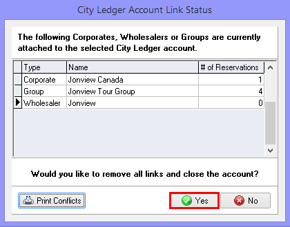 Removing Account Links