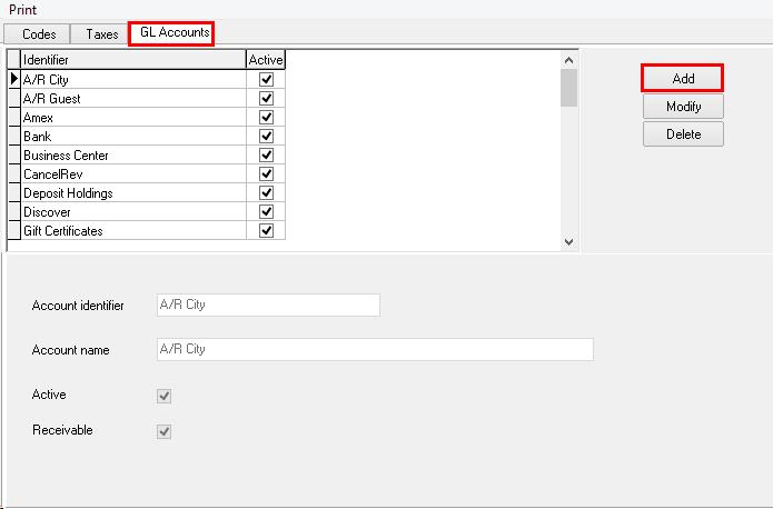 Step 1: GL Accounts
