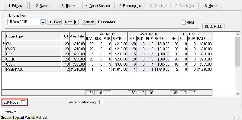 Block tab
