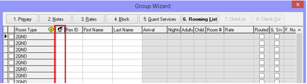 Group Rooming List Shares