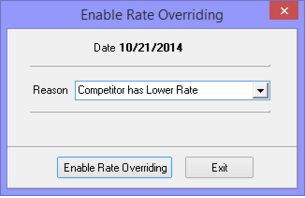 Rate Override/Variance Functionality