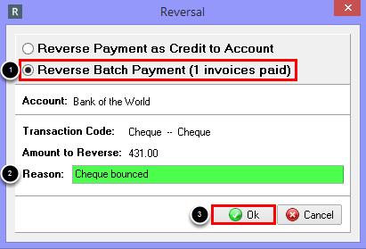 Reverse Batch Payment