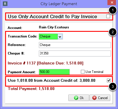 Combining Payment Credits with Other Methods of Payment