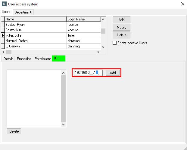 IP Addresses (Optional setup)