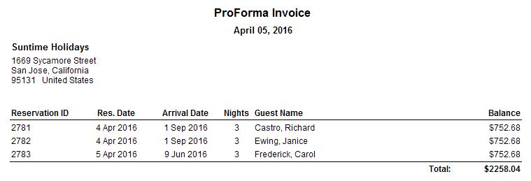 ProForma Invoice (for all)