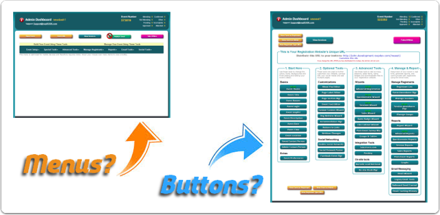 Does your Admin Dashboard have Menus or Buttons?