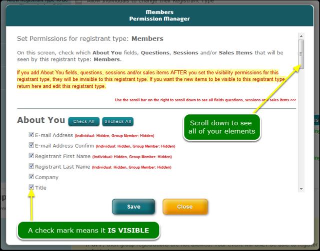 ... setting permissions