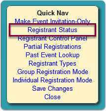 The Advanced Registration window opens...
