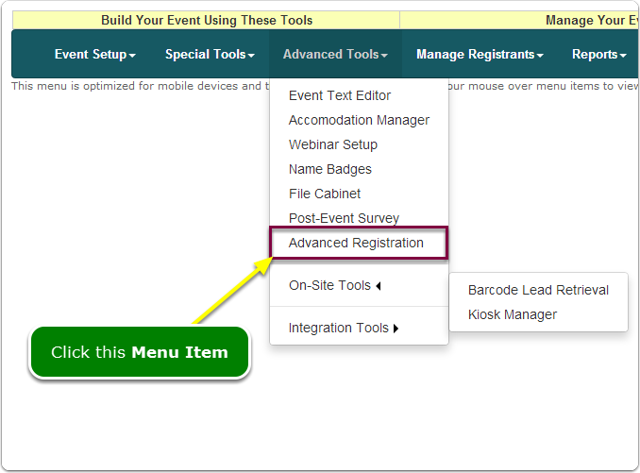 If Menus, your Past Event Lookup tool is located here ...