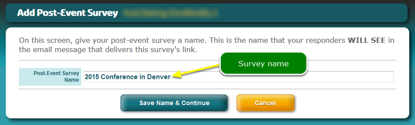 Name the survey ...
