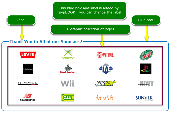 Create the sponsor logos graphics file.