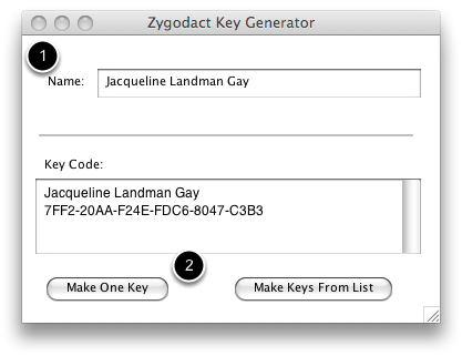 Create serial keys with Key Generator