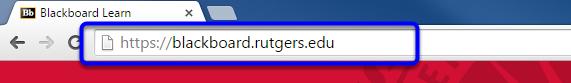 Type in https://blackboard.rutgers.edu in the web address bar, and tap the enter key.
