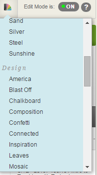 Click any of the choices from the themes panel.