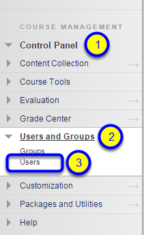 Click Users from the expanded menu.