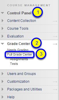 Click on Full Grade Center.