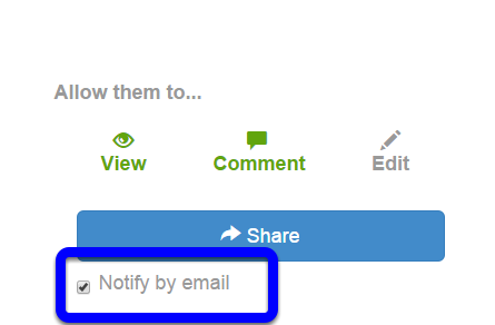 To receive an email notification when students comment on the VoiceThread, click the box next to Notify by email.