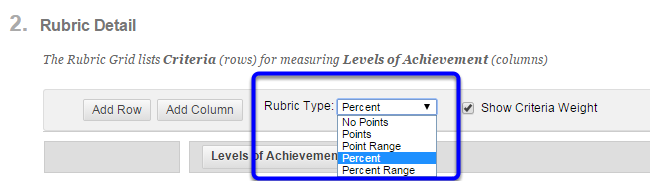 Click on the format your would like your rubric to take.
