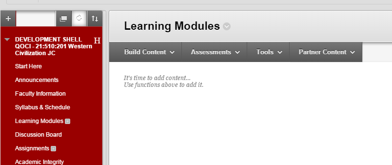 Navigate to where you want the folder to appear in your course.