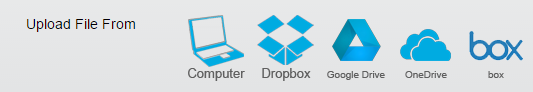 """Optional: You can attach a file from your computer, Dropbox, Google Drive, OneDrive, or box by clicking the appropriate location in the """"Upload File From"""" section and then selecting the name of your file."""