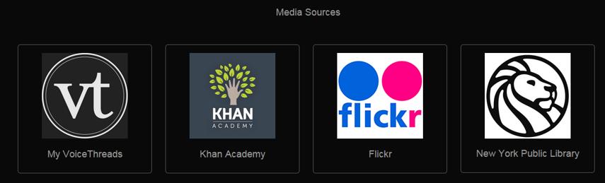 Select a media source.