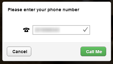 Enter your phone number in the text box, and click on Call Me to allow VoiceThread to call your number.