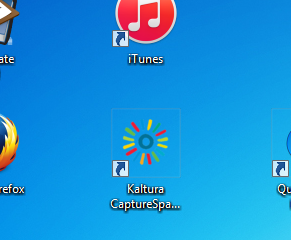 Open the Kaltura CaptureSpace Desktop Recorder.