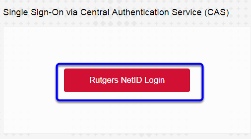 Click Rutgers NetID Login to log into your Blackboard account.