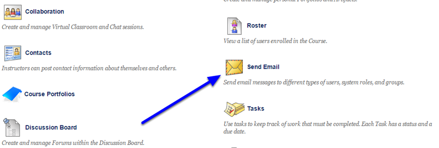 On the Tools page, click Send Email.