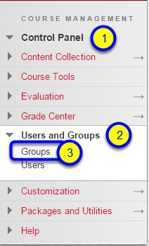 Click on Groups in the expanded menu.