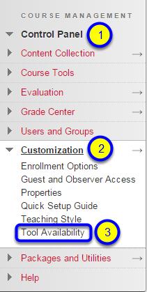 Click on Tool Availability.
