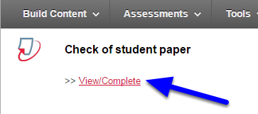 """Click """"View/Complete"""" for the assignment you just created."""