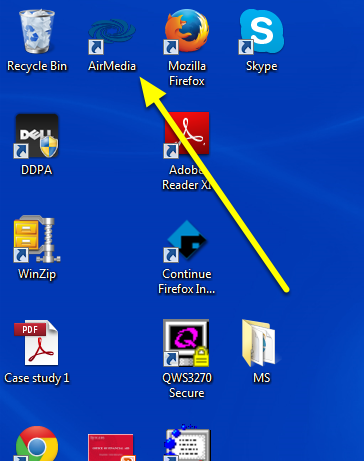Open the AirMedia software.
