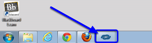 Locate the AirMedia control panel on your computer's action bar.