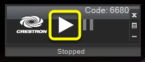 To unfreeze the image and project what is on your screen again, click the play button.