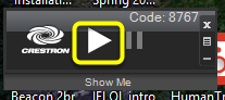 To return to showing your computer screen, click the Show Me button on your AirMedia control panel.