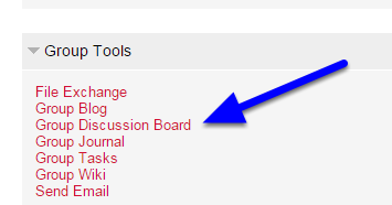 In the Group Tools section, click Group Discussion Board.