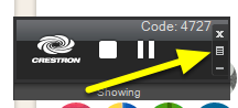 On your AirMedia control player, click on the menu icon.