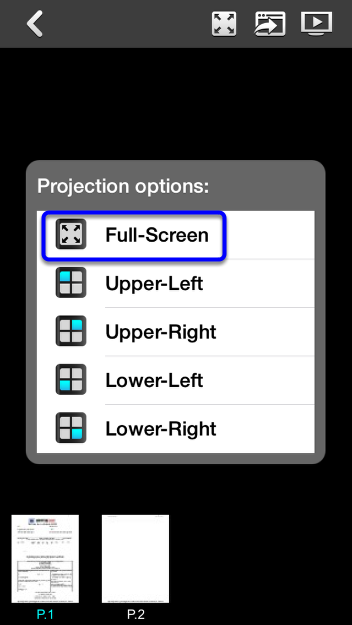 To return to full screen, click on the Quad View icon and select Full Screen.