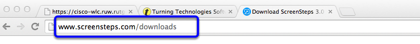 Open your browser, and type in the web address In your browser located on the default page of your projector screen.