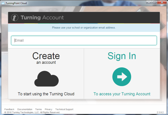 Open TurningPoint Cloud and sign in to your Turning Account.