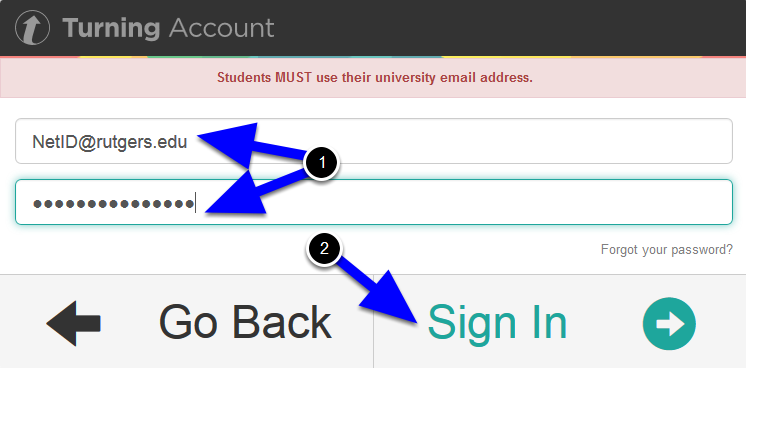 Sign in with the email account and password that you used to register your device and license.