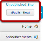 Unpublished Site Indicator