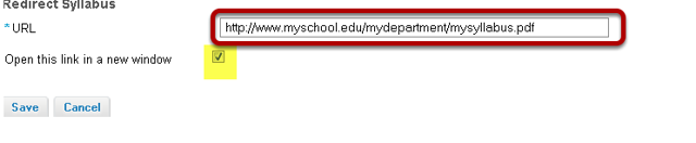 Enter the URL of the webpage location of your syllabus